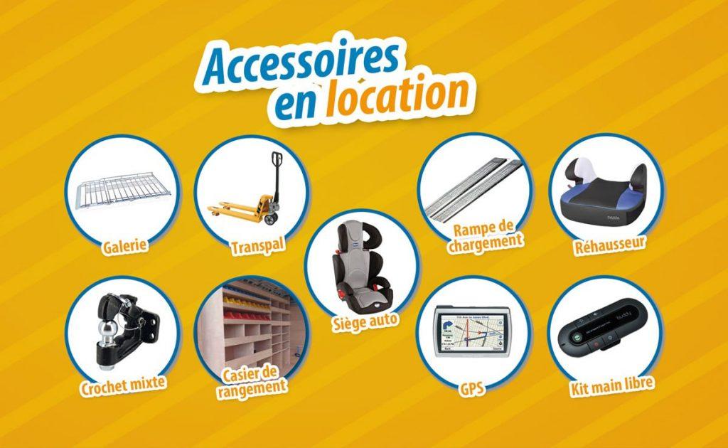Accessoires en location